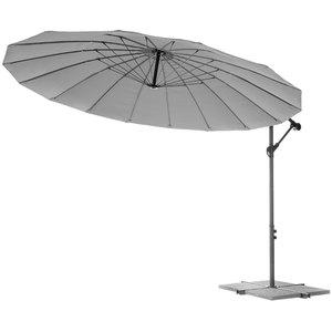 "Solax-Sunshine ""Asia""-Style Ampelschirm, Ø 3m, Anthrazit"