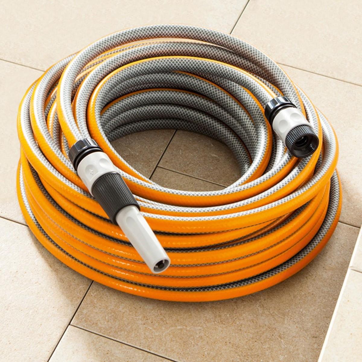 """Bild 1 von Powertec Garden Gartenschlauch """"SlideTec"""", 1/2"""", 25m, Orange"""