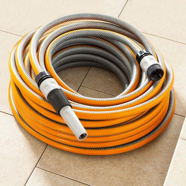 """Powertec Garden Gartenschlauch """"SlideTec"""", 1/2"""", 25m, Orange"""