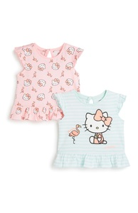 """Kitty"" T-Shirt für Babys (M), 2er-Pack"