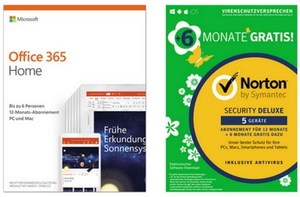 Microsoft Office 365 Home FPP Product Key inkl. Symantec Norton Security Deluxe