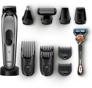 Braun MGK7021 Multigrooming Kit Bart und Haarschneider schwarz/grau