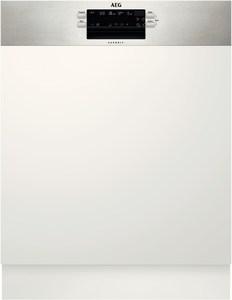 AEG FES5361UZM Integrierbarer 60 cm Geschirrspüler edelstahl/cleansteel / A+++
