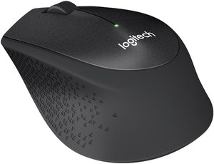 Logitech M330 Silent Plus Kabellose Maus schwarz