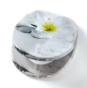 badkomfort Design-WC-Sitz, Weiße Lilie