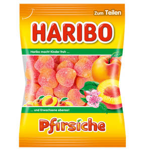 HARIBO             Fruchtgummi Pfirsiche, 200g                 (5 Stück)