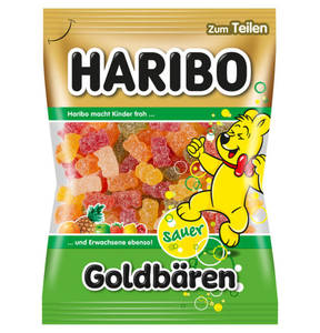 HARIBO             Sauer Goldbären Fruchtgummi, 200g                 (5 Stück)