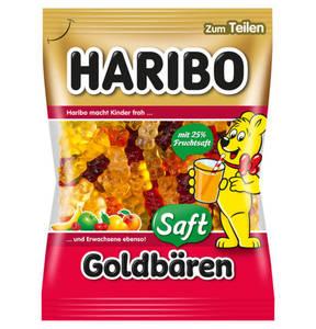 HARIBO             Saft Goldbären Fruchtgummi, 175g                 (5 Stück)