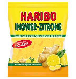 HARIBO             Ingwer-Zitrone Fruchtgummi scharf, 175g                 (5 Stück)