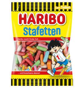 HARIBO             Stafetten Lakritz-Dragees, 200g                 (5 Stück)