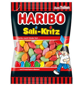 HARIBO             Sali-Kritz Lakritz-Dragees, 200g                 (5 Stück)