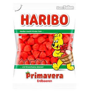 HARIBO             Primavera Erdbeeren Schaumzucker, 200g                 (5 Stück)