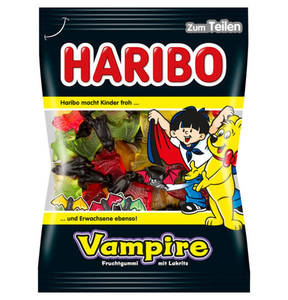 HARIBO             Vampire Fruchtgummi mit Lakritz, 200g                 (5 Stück)