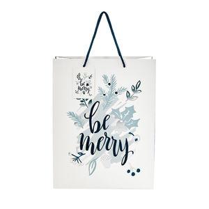 BUTLERS X-MAS Geschenktüte 'be merry' Höhe 33,5 cm