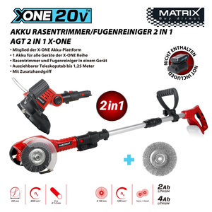 Matrix X-One Akku Rasentrimmer/Fugenreiniger 2in1