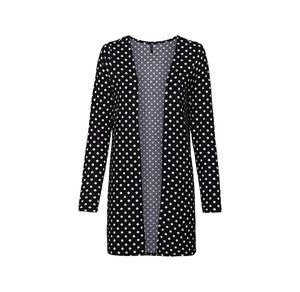 Laura Torelli Young Fashion Damen-Strickjacke mit Punkte-Muster