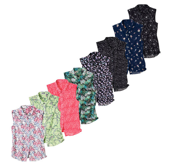 Laura Torelli Classic Damen-Bluse mit tollen Mustern