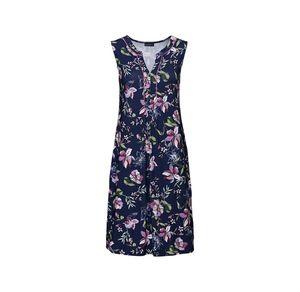 Laura Torelli Classic Damen-Kleid mit hübscher Paspel