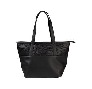 Damen-Handtasche mit gestanztem Blumenmuster