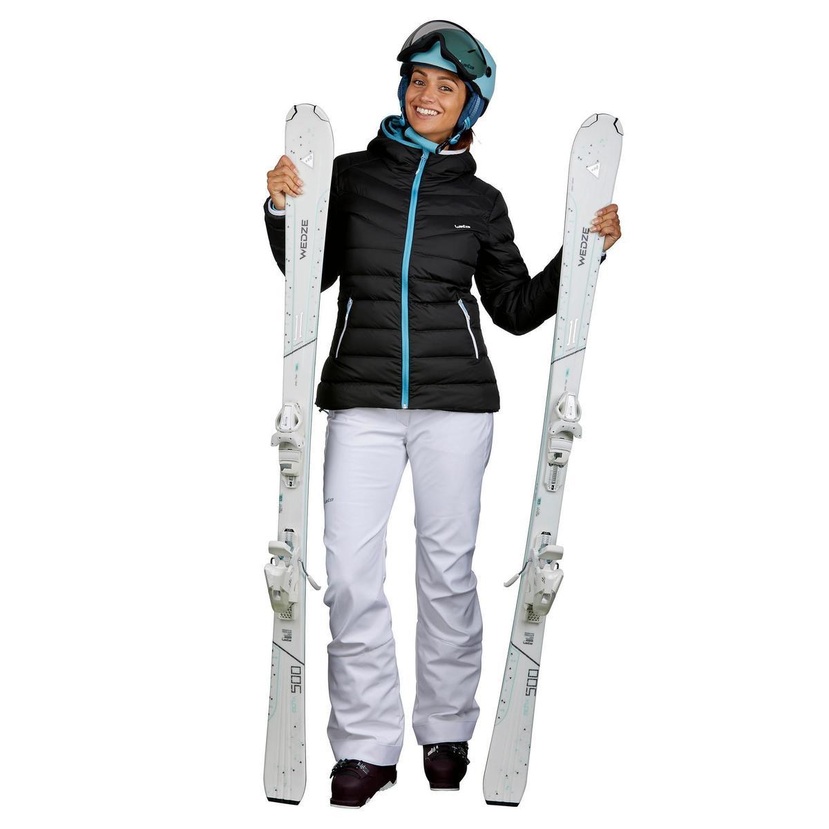 Bild 2 von Skijacke Daunen 500 Warm Damen grau