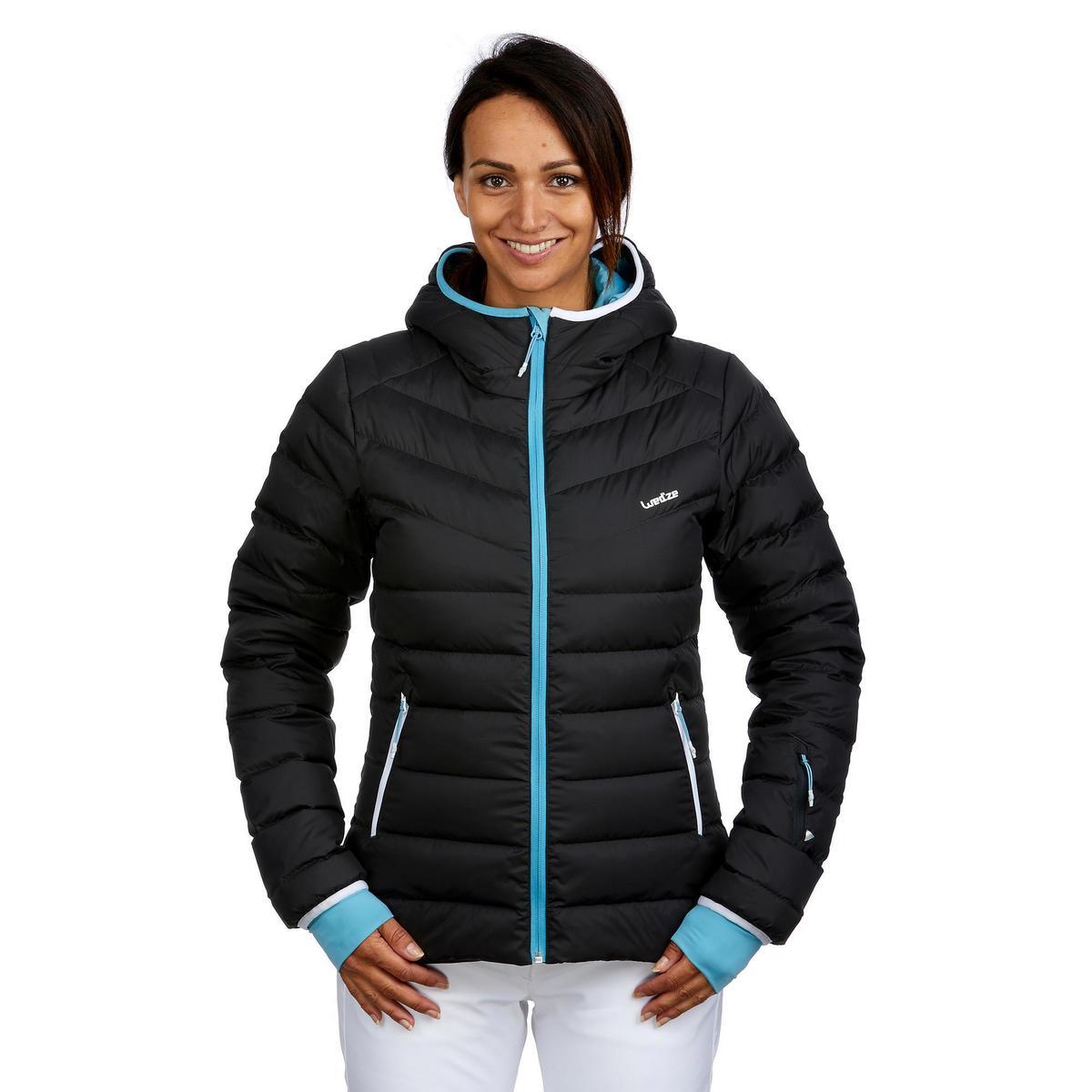 Bild 3 von Skijacke Daunen 500 Warm Damen grau