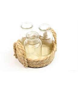 Tablett mit 3 Flaschen