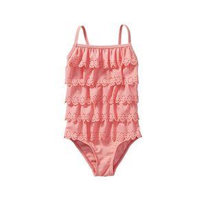 Mädchen-Badeanzug mit schicken Rüschen