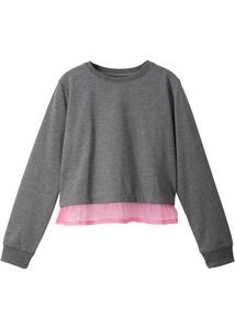 Sweatshirt mit Bluseneinsatz