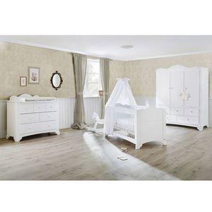 Pinolino   3-tlg. Babyzimmer Pino breit groß mit 3-türigem Kleiderschrank