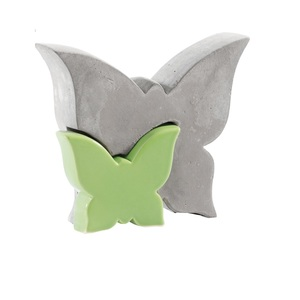 casaNOVA Deko Schmetterling 12 cm Dolomit grün/Zement grau