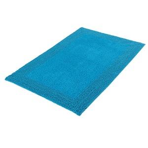Kleine Wolke Badteppich COTONE 60 x 90 cm in Blau/Grün