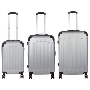 Hardschalen Kofferset AVALON II 45 + 72 + 110 Liter pastell silbergrau