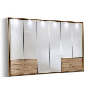 MONDO Kleiderschrank SERENA Eiche teilmassiv ca. 300 x 216 x 58 cm