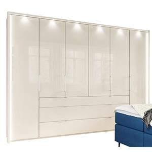 CASAVANTI Kleiderschrank CASTELLO 300 x 236 x 58 cm in Beige