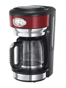 Russell Hobbs Retro Ribbon Red Glas-Kaffeemaschine