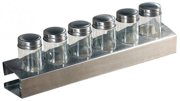 Kesper Gewürzregal mit 6 Gläsern
