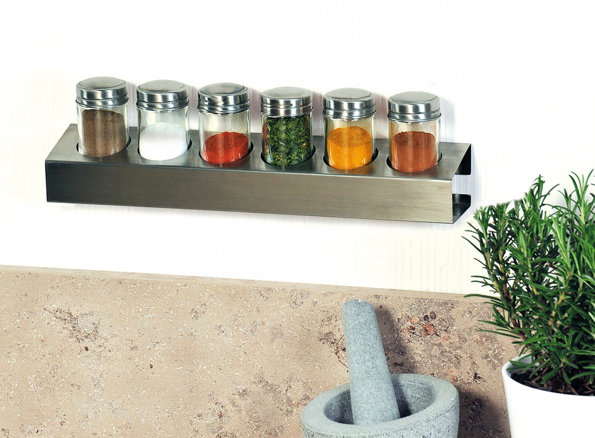 Bild 2 von Kesper Gewürzregal mit 6 Gläsern