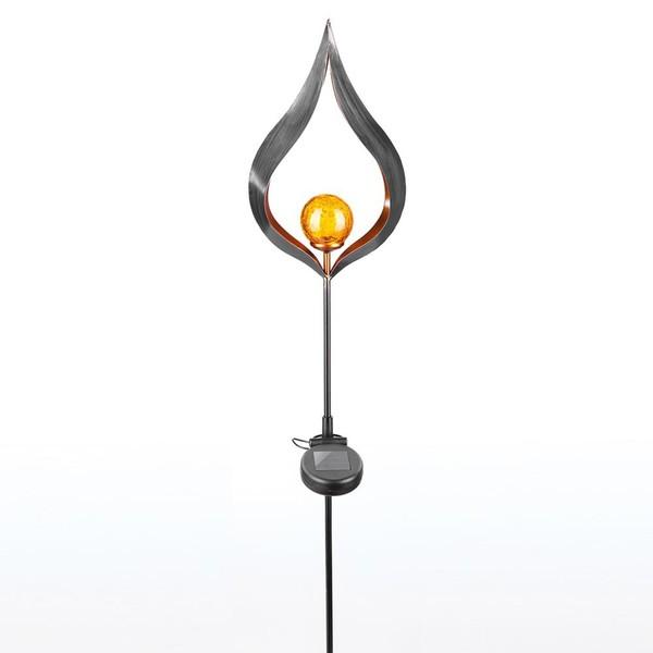 I-Glow LED Solar-Vintage Gartenleuchte, Kerze