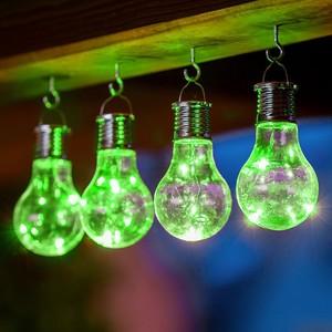 I-Glow LED Solar Partybirnen 4er-Set - Grün