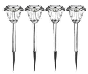 Duracell LED Solar Gartenlampen aus Zinn mit Glaslinse - 4er Pack