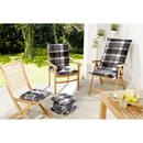 Bild 2 von Solax-Sunshine Sitzkissen, Karo Grau-Weiß - 4er-Set