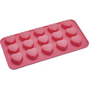 IDEENWELT Eiswürfelform Herz rot