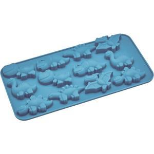 IDEENWELT Eiswürfelform Dino blau