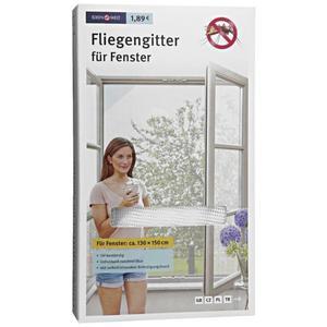 IDEENWELT Fliegengitter für Fenster weiß