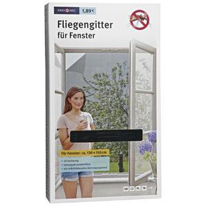 IDEENWELT Fliegengitter für Fenster anthrazit