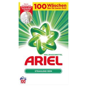 Ariel Vollwaschmittel, 100 WL 0.20 EUR/1 WL