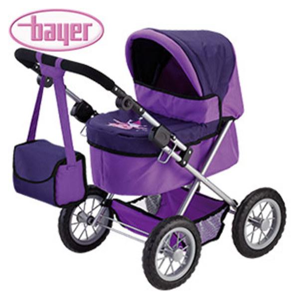 Puppenwagen Trendy versch. Designs für Puppen bis 46 cm