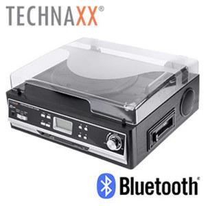 Bluetooth®-Schallplatten- und Kassettendigitalisierer TX-22+ · kein PC erforderlich, LC-Display · Riemenantrieb (33/45/78 U/min) · integr. Stereo-Lautsprecher · USB-/Aux-/Cinch-Anschluss, SD-Kar