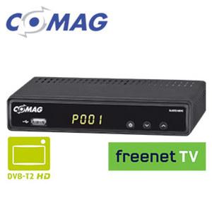 FullHD-DVB-T2-Receiver SL65T2 PVRready · 4-stelliges Display · Aufnahme-Funktion über USB (PVRready) · HEVC/H.265, bis 1080p möglich, EPG · HDMI-/Scart-/USB-/Ethernet-Anschluss