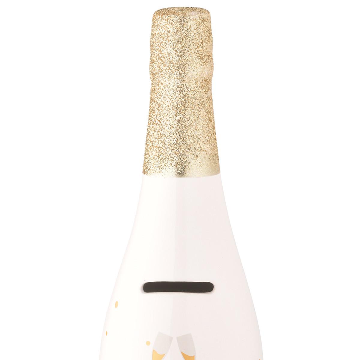 Bild 2 von Spardose Prosecco-Flasche aus Keramik